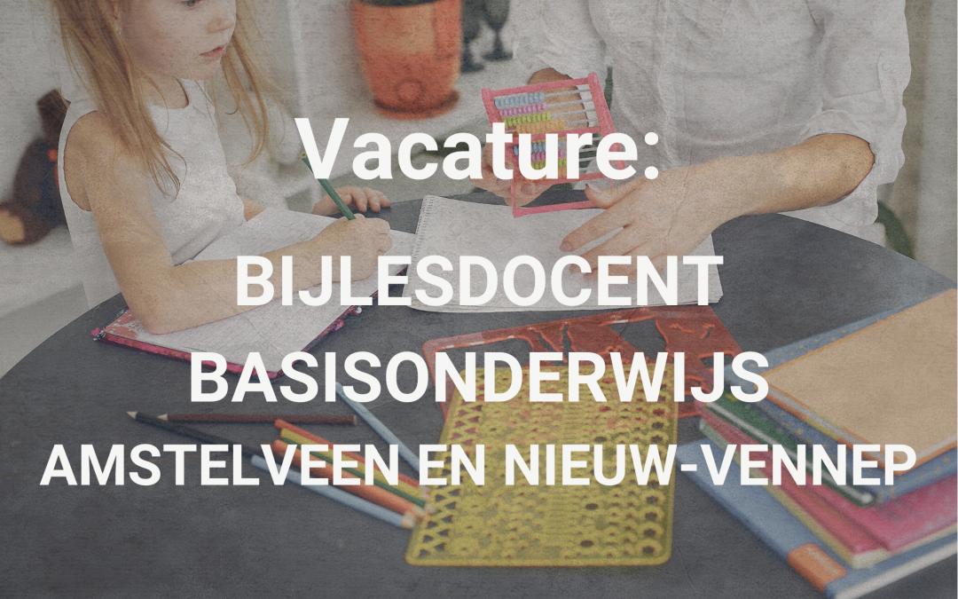 Vacature: Bijlesdocent basisonderwijs Amstelveen en Nieuw-Vennep