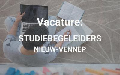 Vacature: Studiebegeleiders Nieuw-Vennep